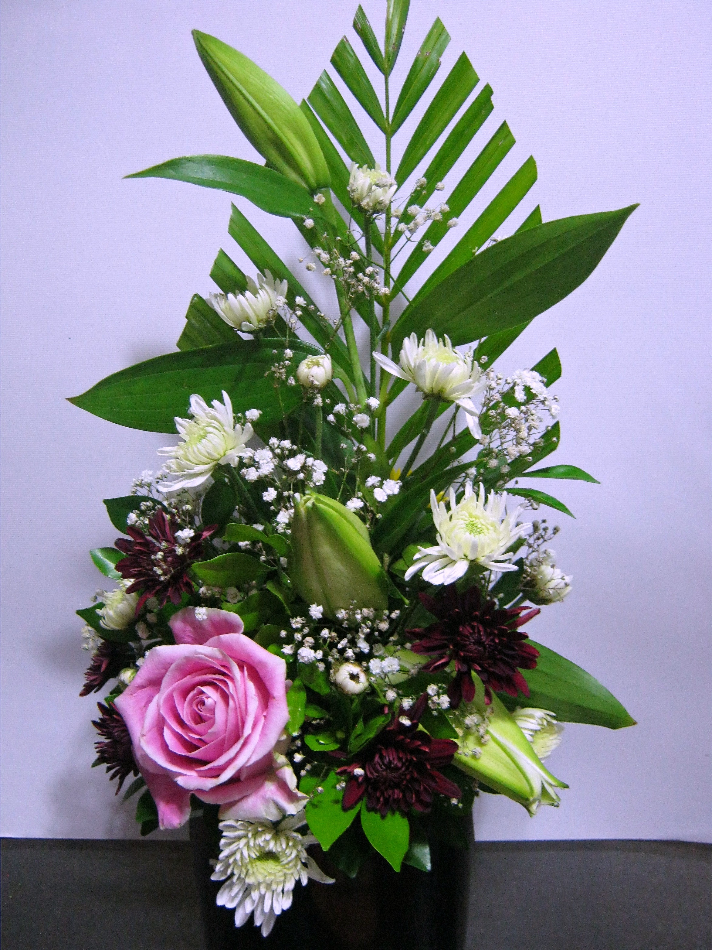 Rose Lily Chrysanthemum Box Flowerandballooncompany Com